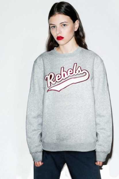 FFLAG Paris – Fight for love and glory – Sweatshirt rebels gris – face