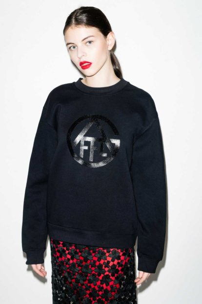 FFLAG Paris – Fight for love and glory – Sweatshirt emblème noir – face