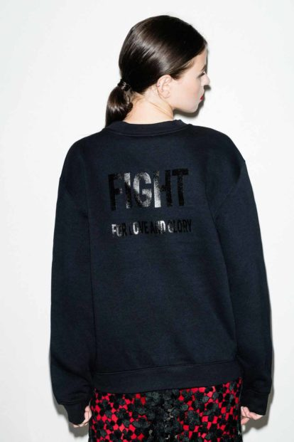 FFLAG Paris – Fight for love and glory – Sweatshirt emblème noir – dos