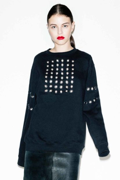 FFLAG Paris – Fight for love and glory – Sweatshirt œillets – face