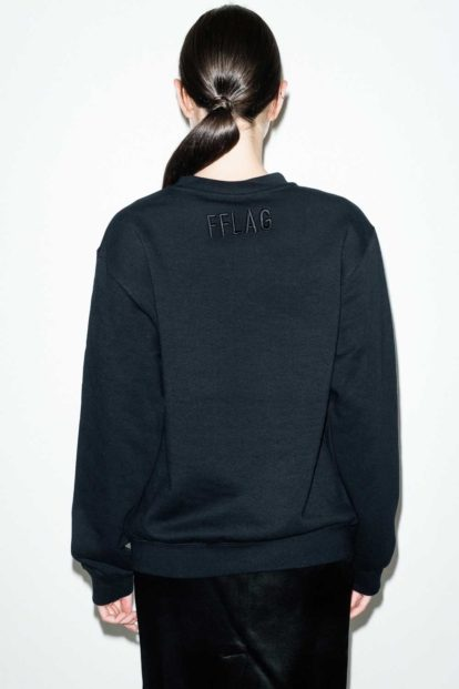 FFLAG Paris – Fight for love and glory – Sweatshirt fleurs grenat – dos