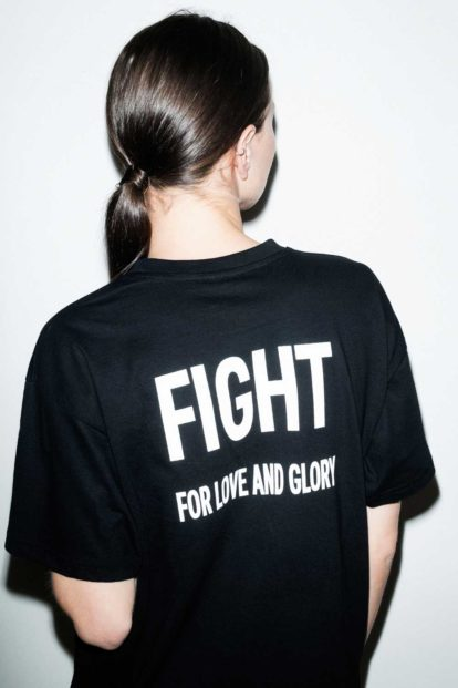 FFLAG Paris – Fight for love and glory – T-shirt emblème blanc – dos