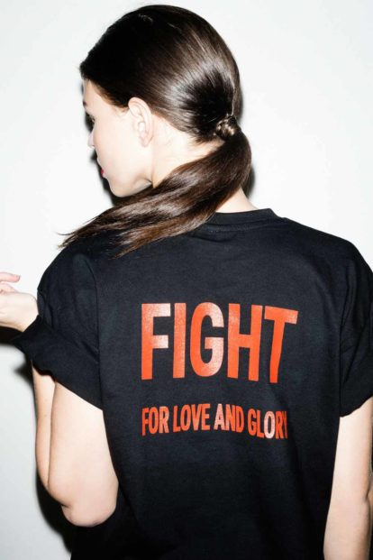 FFLAG Paris – Fight for love and glory – T-shirt emblème brique – dos