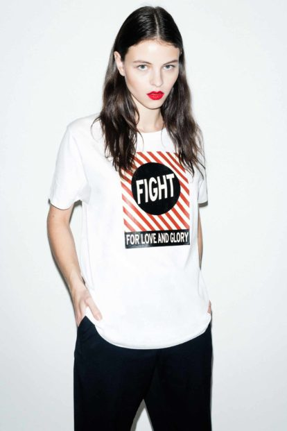 FFLAG Paris – Fight for love and glory – T-shirt unisexe imprimé noir – face