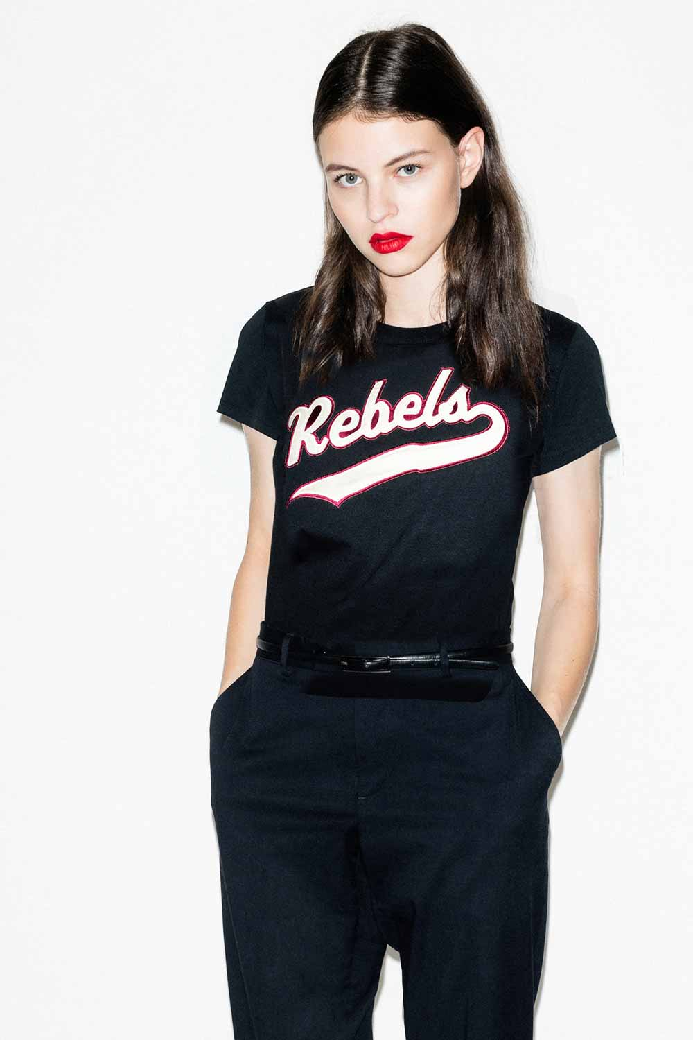FFLAG Paris – Fight for love and glory – T-shirt court rebels blanc – détail