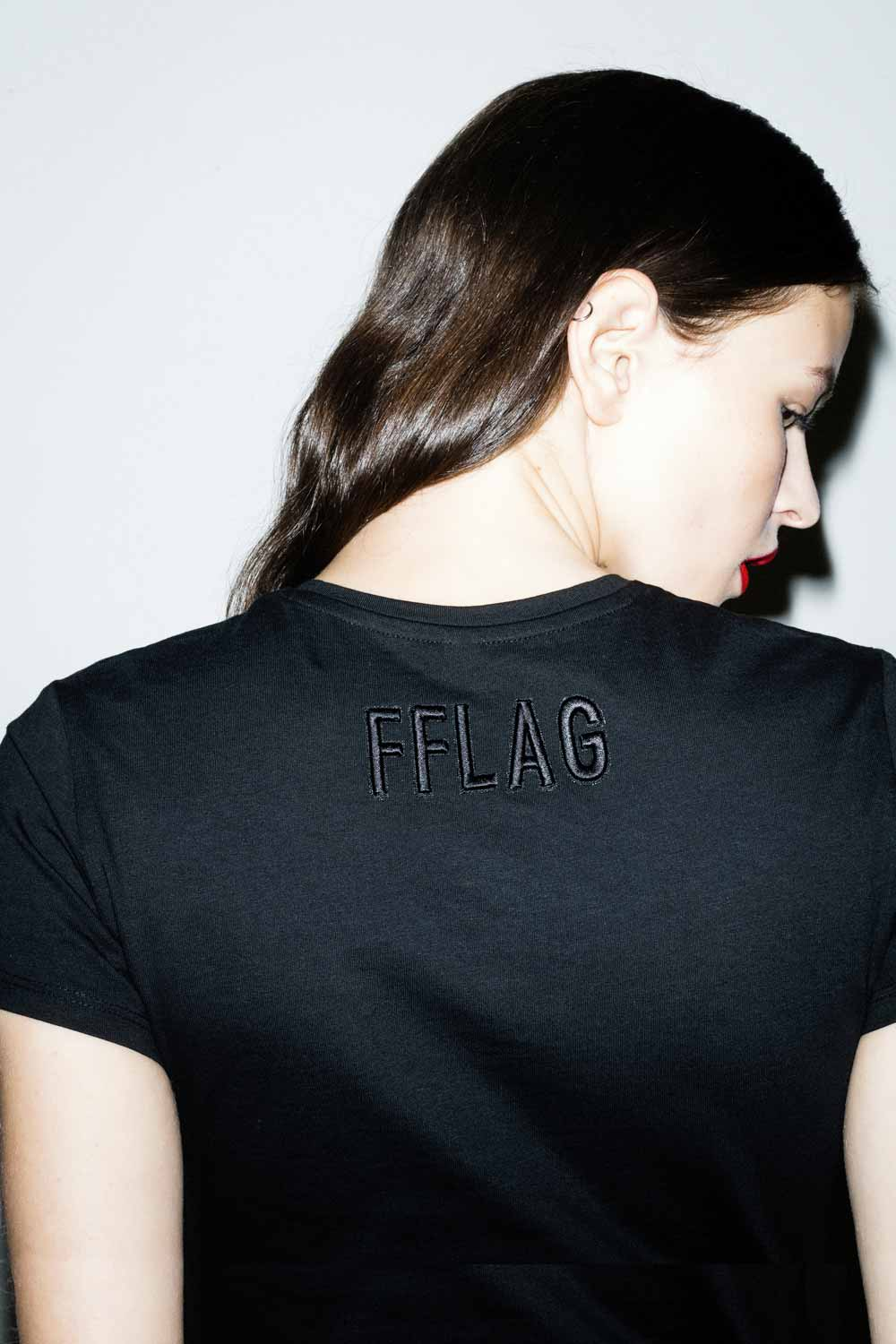 FFLAG Paris – Fight for love and glory – T-shirt court rebels blanc – dos